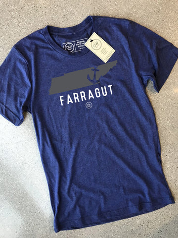 The Farragut Anchor State Tee - DWC