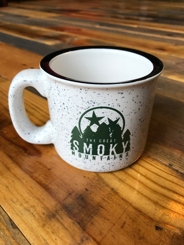 The Great Smoky Mountain Campfire Mug -White