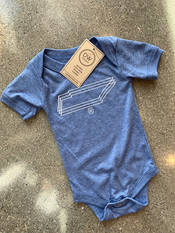 The Triple TN Onesie - Light Blue