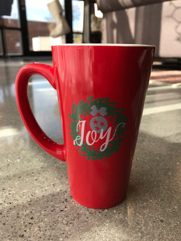 The TN Joy Christmas Wreath Mug
