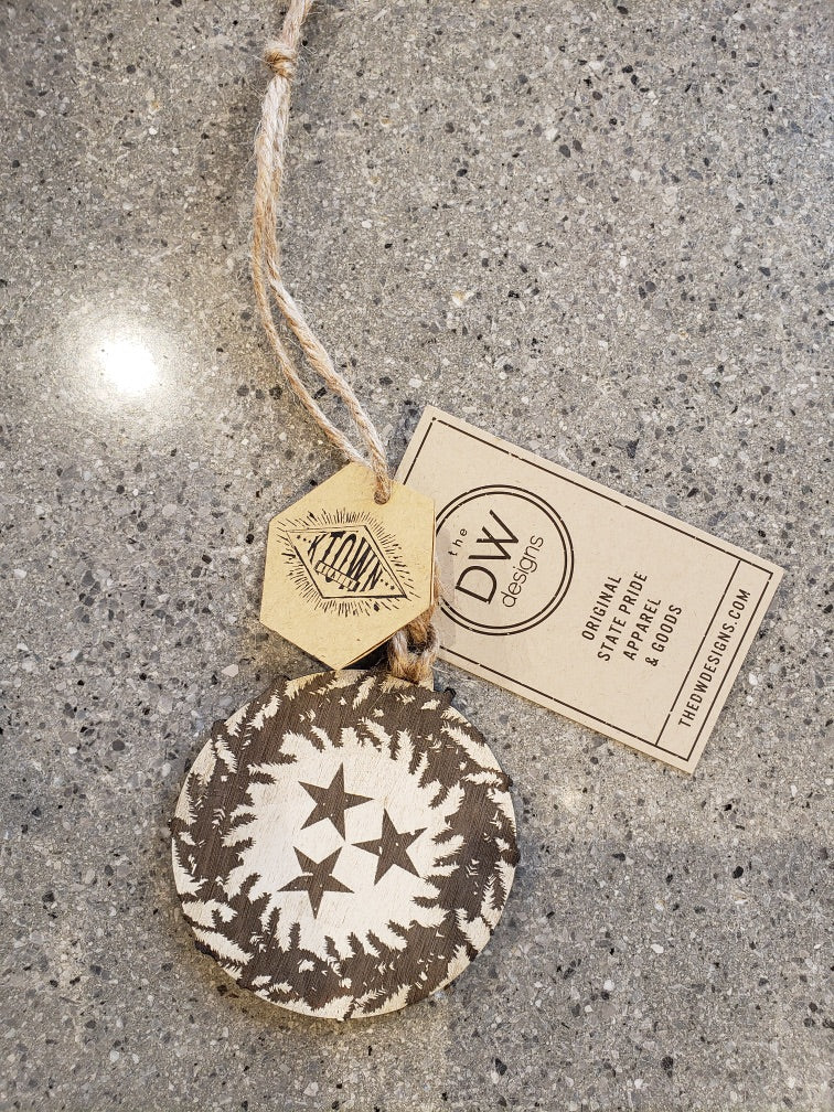 The Tristar Wreath Stained Christmas Ornament