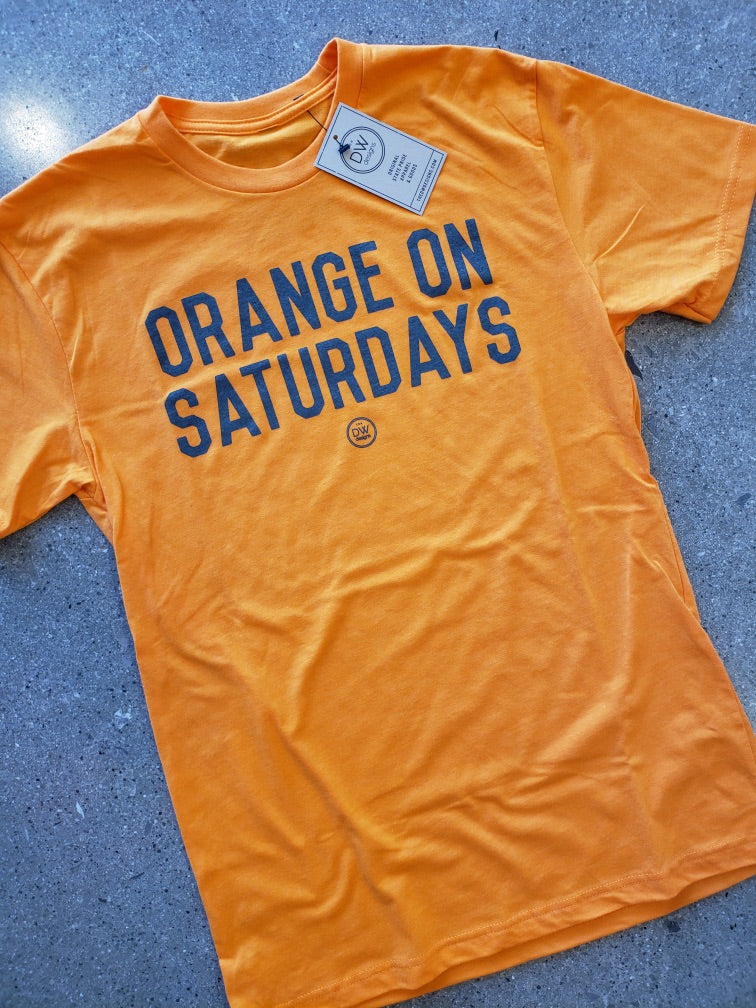 The Saturday Tee - Orange
