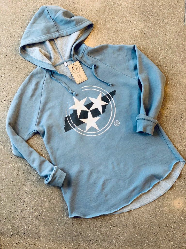 The Tristar State Women's Hoodie- Blue