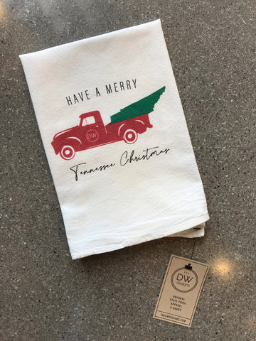 The TN Christmas Truck Tea Towel (20 x 20)