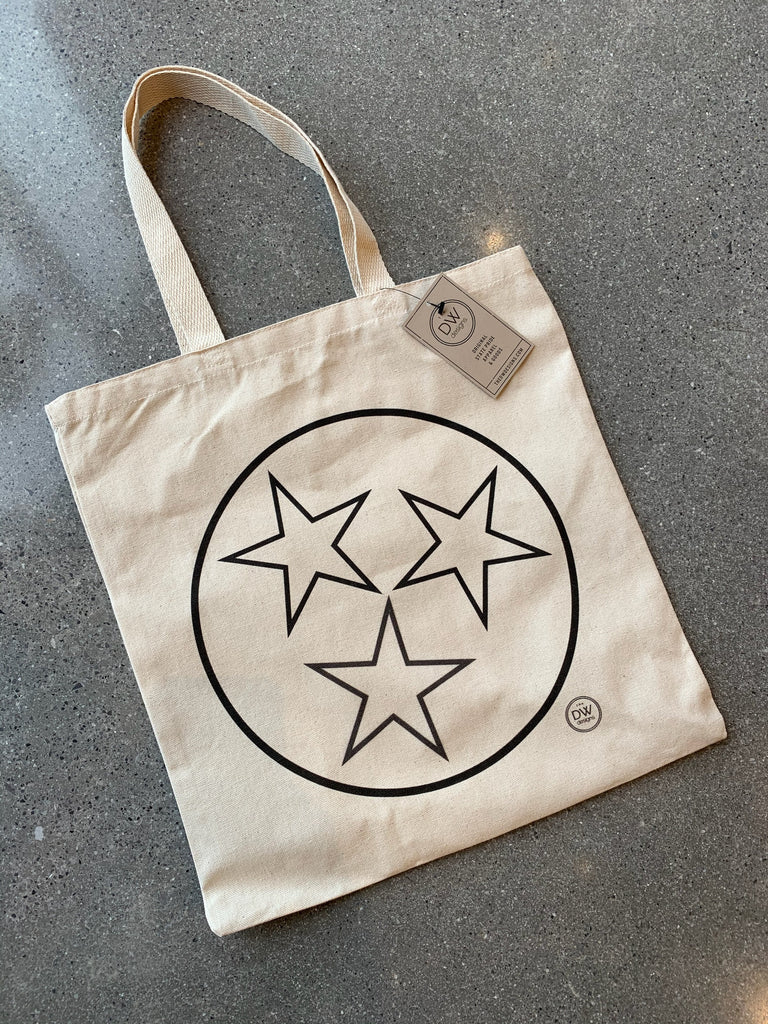 The Tristar Outline Canvas Tote