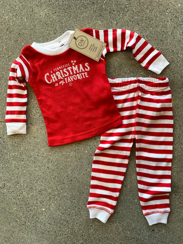 The Favorite TN Christmas Pajama Set