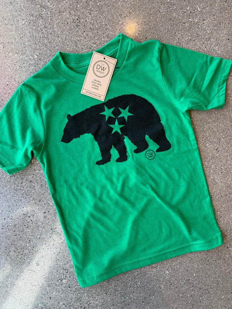 The Tristar Bear Kids' Tee - Green