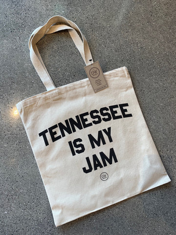 TN is My Jam Canvas Tote