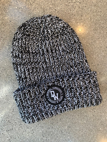 The DW Circle Knit Beanie - Black Heather