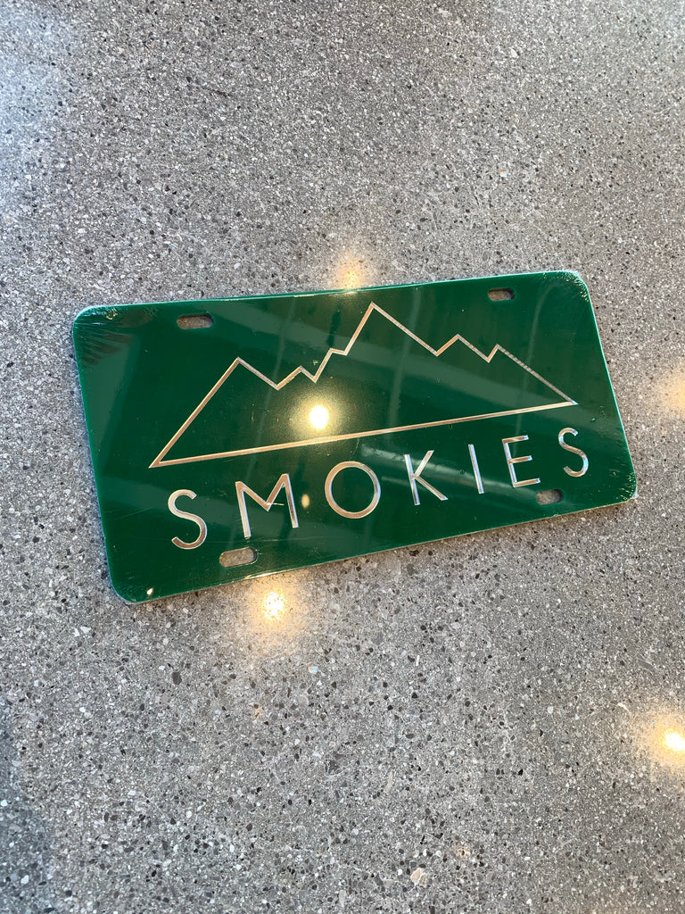 The Smokies License Plate - Green