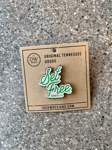 The Set Free Enamel Pin