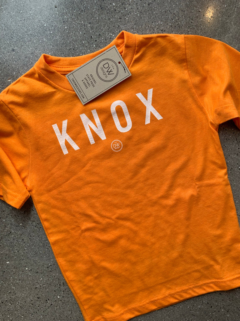 The City Vintage Knox Kids' Tee - Orange