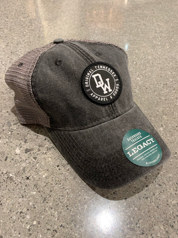 The DW Circle Patch Unstructured Legacy Hat - Black