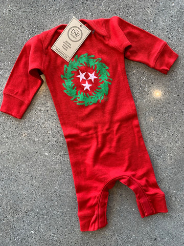 The TN Christmas Wreath Infant Bodysuit