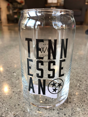 The Tennessean Can Glass - 16oz