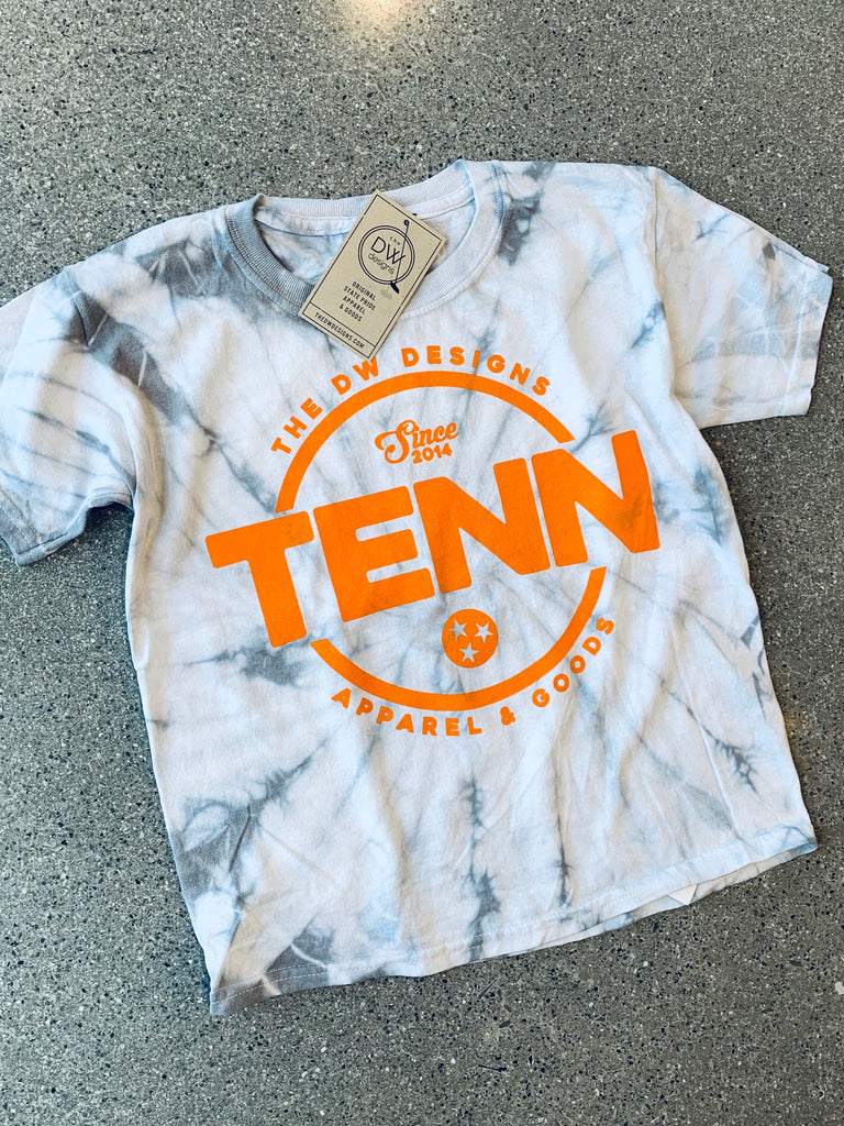 The DW TENN Tie-Dyed Kids' Tee - Silver