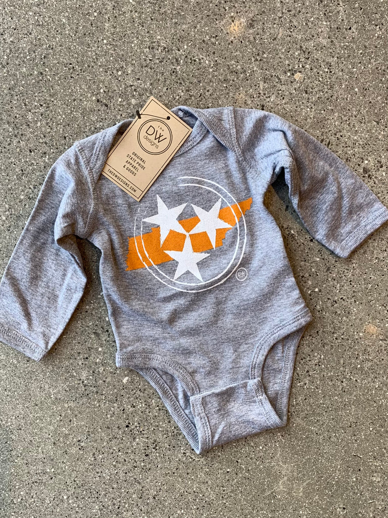 The Tristar State Long Sleeve Onesie