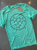 The Tristar Outline Tee - Mint