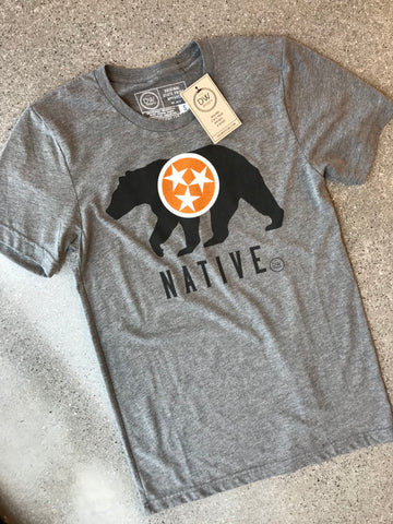 The TN Native Black Bear Tee - Grey
