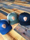 The Smoky Mtn Strong Leather Patch Trucker Hat