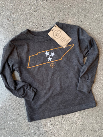 The Minimal Tristar State Kids Long Sleeve Tee