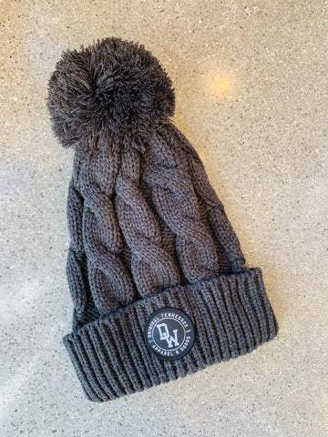The DW Circle Twist Beanie - Charcoal