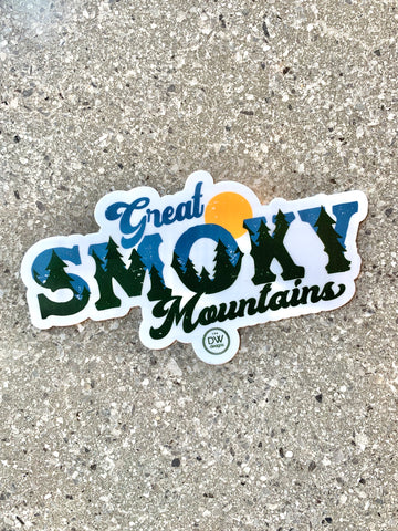 The Vintage Smoky Mtn Sticker