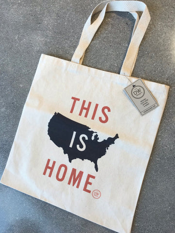 The This is Home- USA Canvas Tote