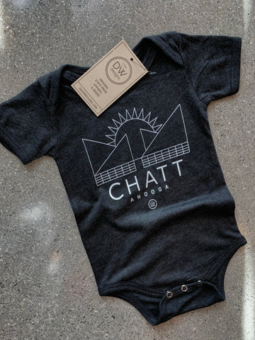 The Chatt Sunset Onesie - Charcoal