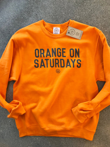 The Saturday Sweatshirt - Orange