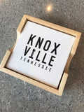 The Knoxville Stacked Square Coaster Set