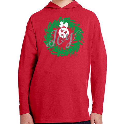 The TN Joy Christmas Wreath Kids' Tee Hoodie