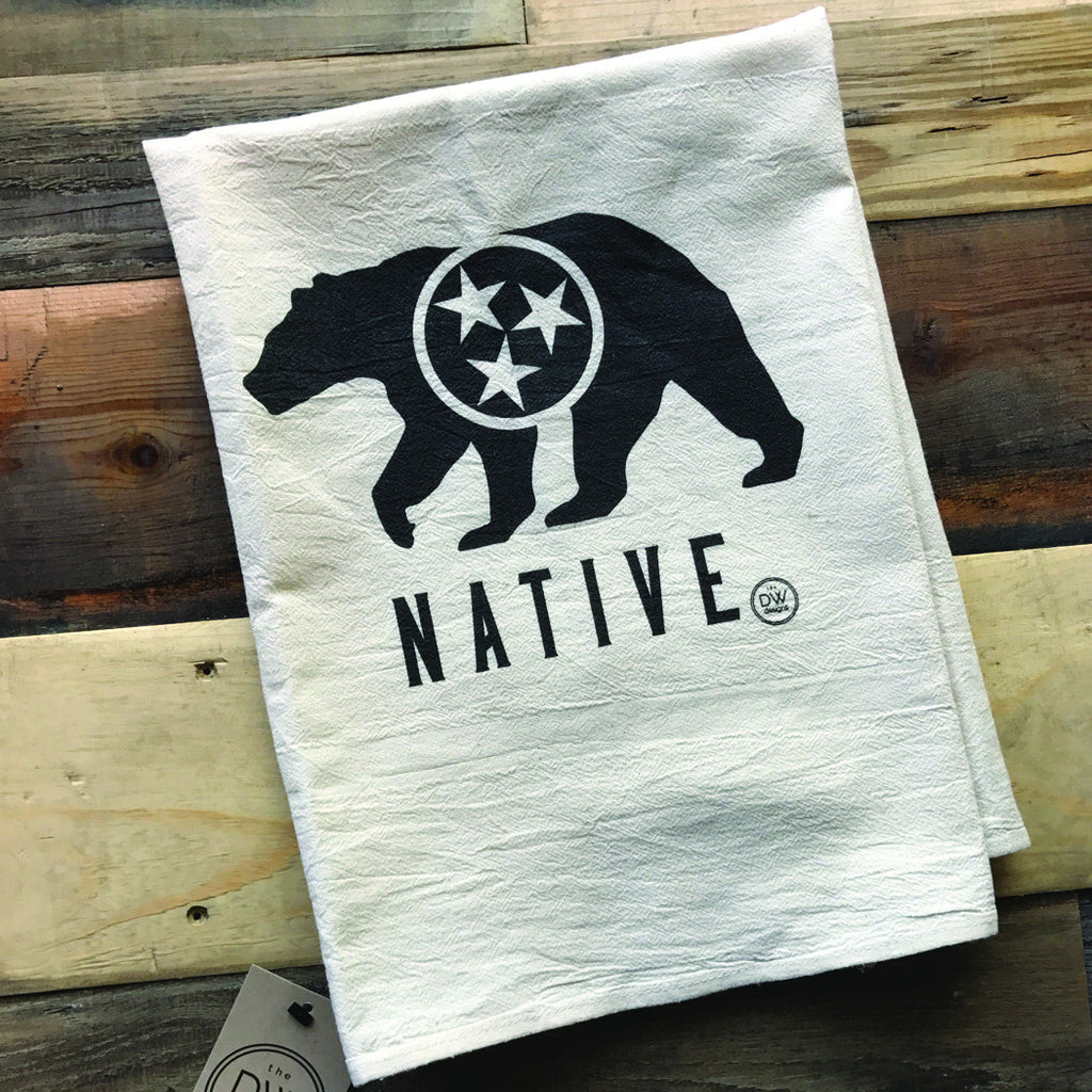 The TN Native Bear Tea Towel