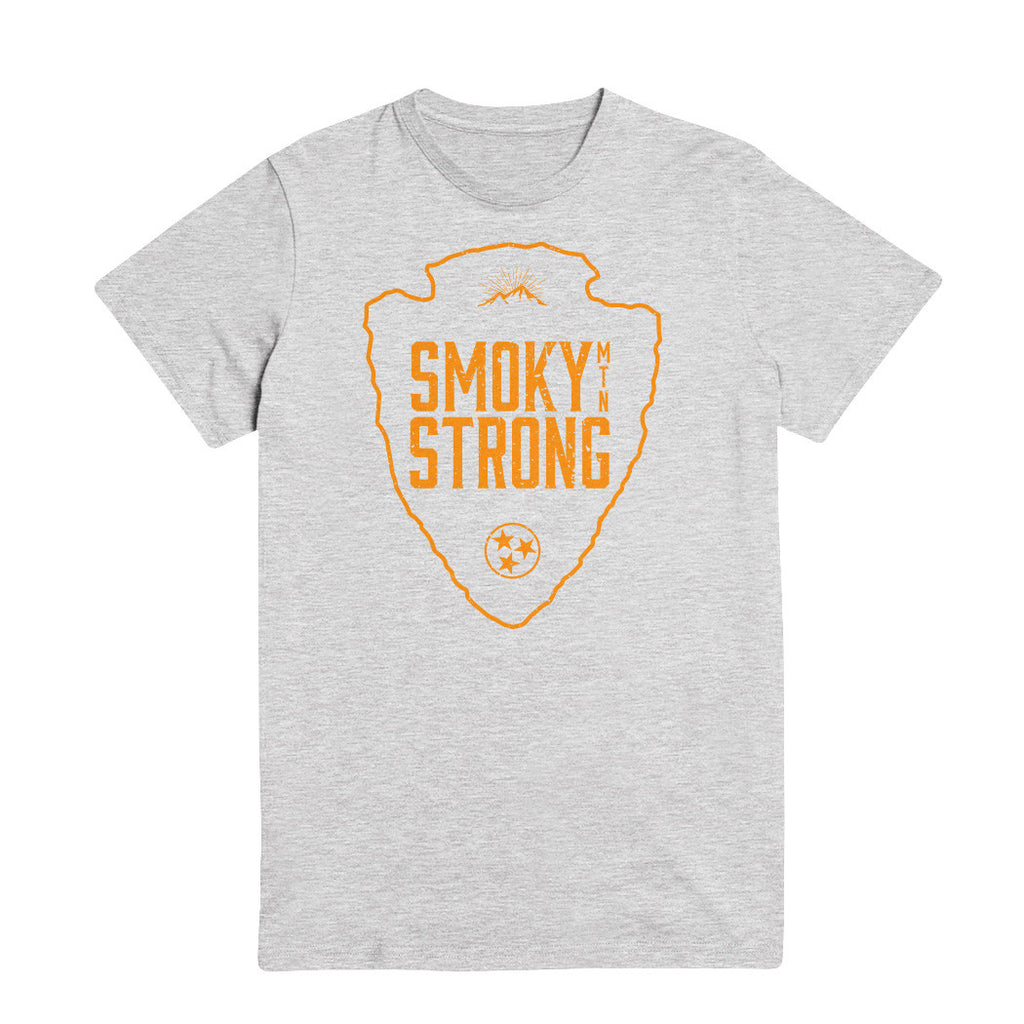 The Smoky MTN Strong Tee - Orange