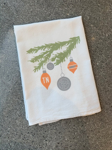 The TN Christmas Branch Tea Towel (20 x 20)
