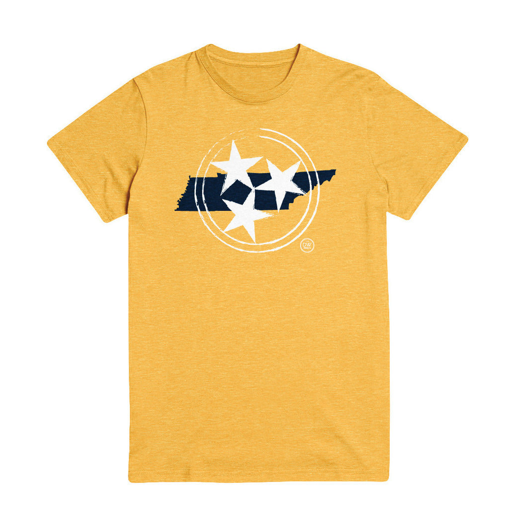 The Tri-star State Tee - Yellow - DWC