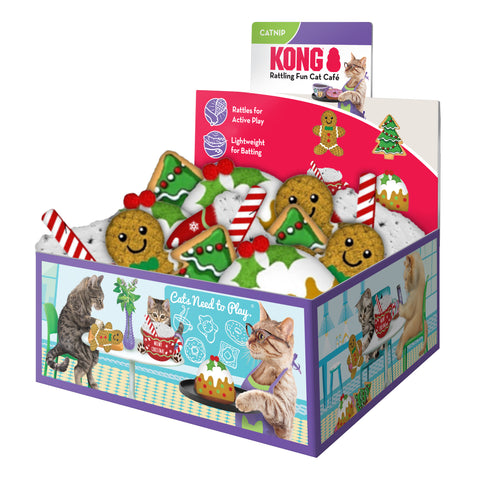 KONG Holiday Scrattles Cafe PDQ 12 Piece
