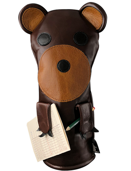 Dormie Workshop Tokey the Bear Leather Golf Headcover