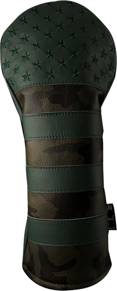 Dormie Workshop Green Camo USA Leather Golf Headcover