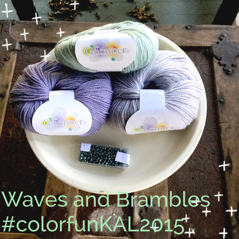 Waves and Brambles yarn color way