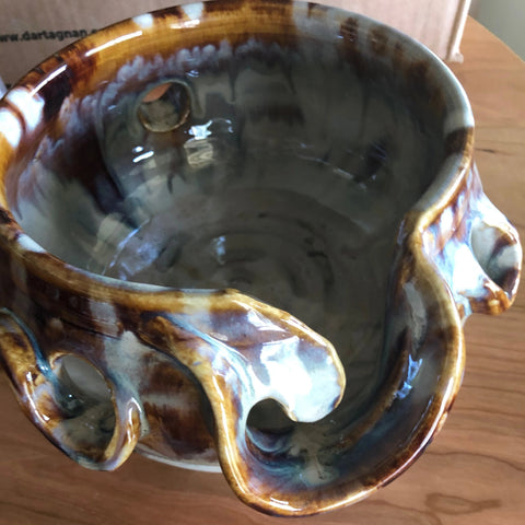 Deco Colorwork Yarn Bowl by Spring Street Pottery