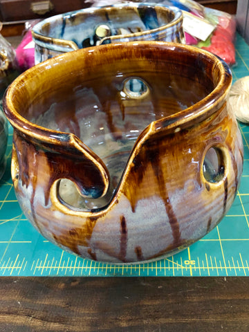 Sock Yarn Bowl by Spring Street Pottery