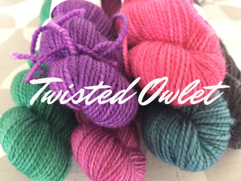Twisted Owlet (2-ply Sock Minis) by Twisted Owl Fiber Studio