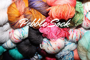 Pebble Sock by Black Trillium Fibre Studio