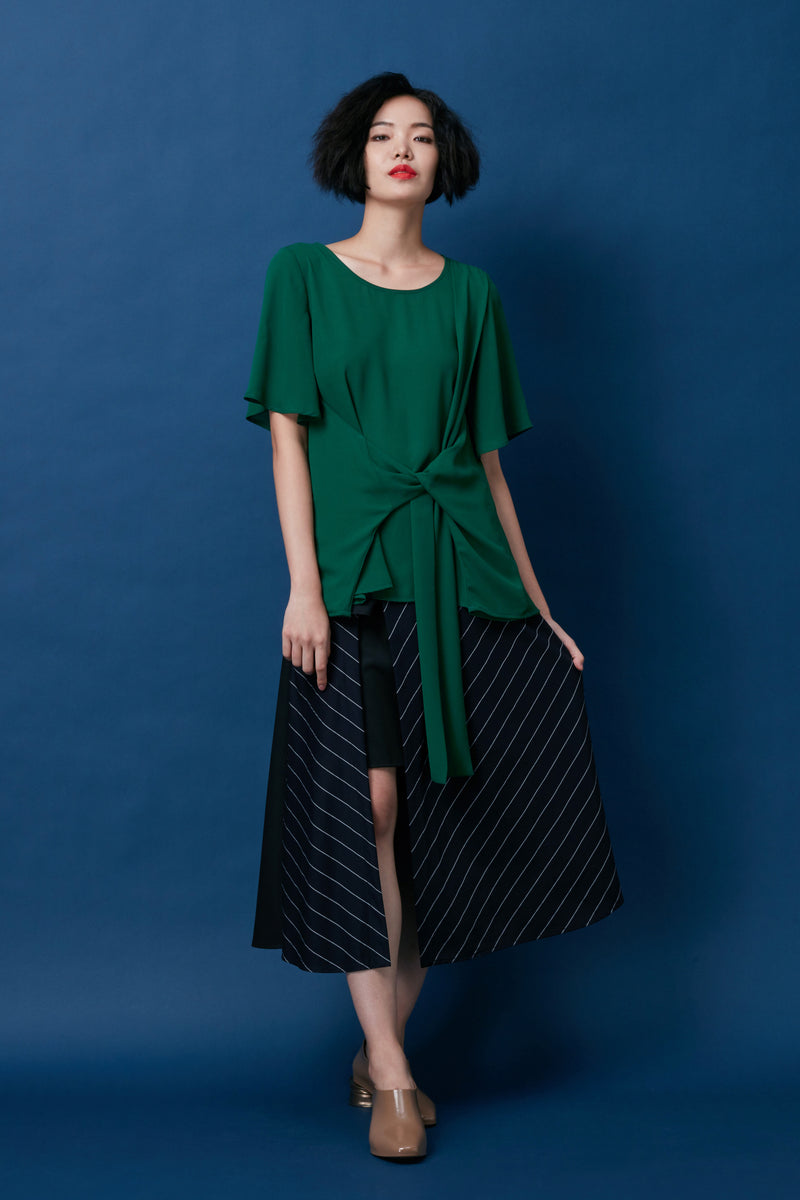 Diagonal Loop Sash Top (Green)