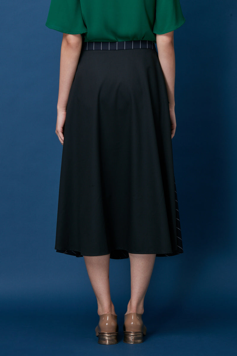 Layered Peplum Swing Skirt