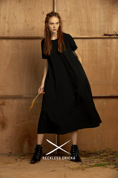 the reckless shop reckless ericka black maxi tent dress