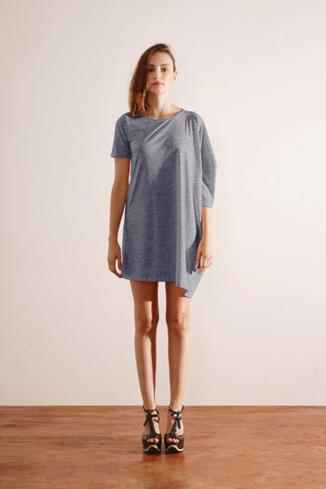 Oversized Tee Dress (Grey)