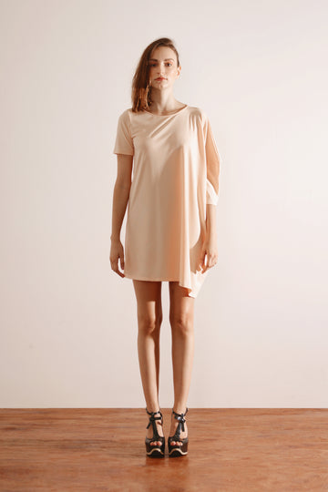 Oversized Tee Dress (Peach)