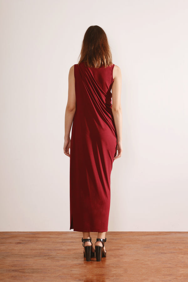 Grecian Dress (Dark Red)